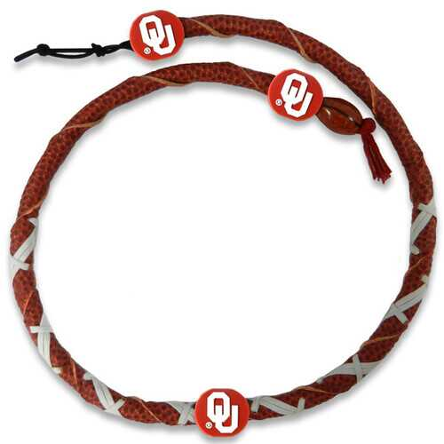 Oklahoma Sooners Spiral Football Necklace