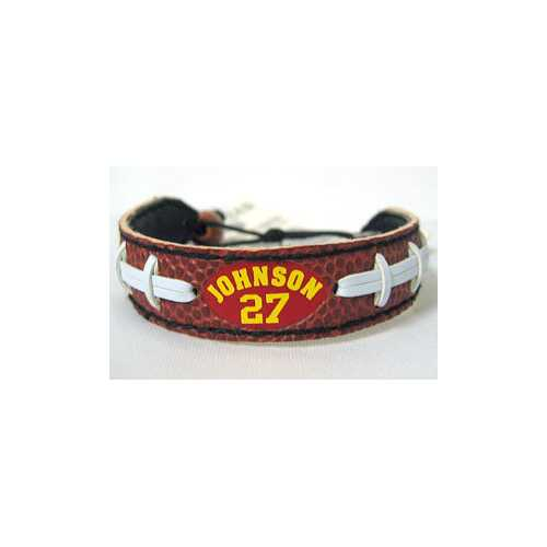 Kansas City Chiefs Larry Johnson Classic Football Jersey Bracelet - Teams Sky arrowz - kansas city chiefs larry johnson classic football