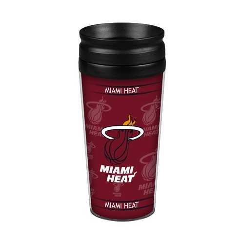 Miami Heat Travel Mug 14oz Full Wrap Style Hype Design Special Order