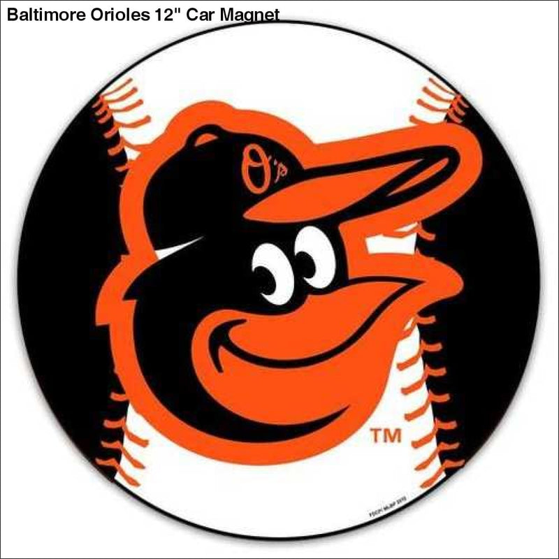 Baltimore Orioles 12 Car Magnet - Teams Sky arrowz - baltimore orioles car magnet