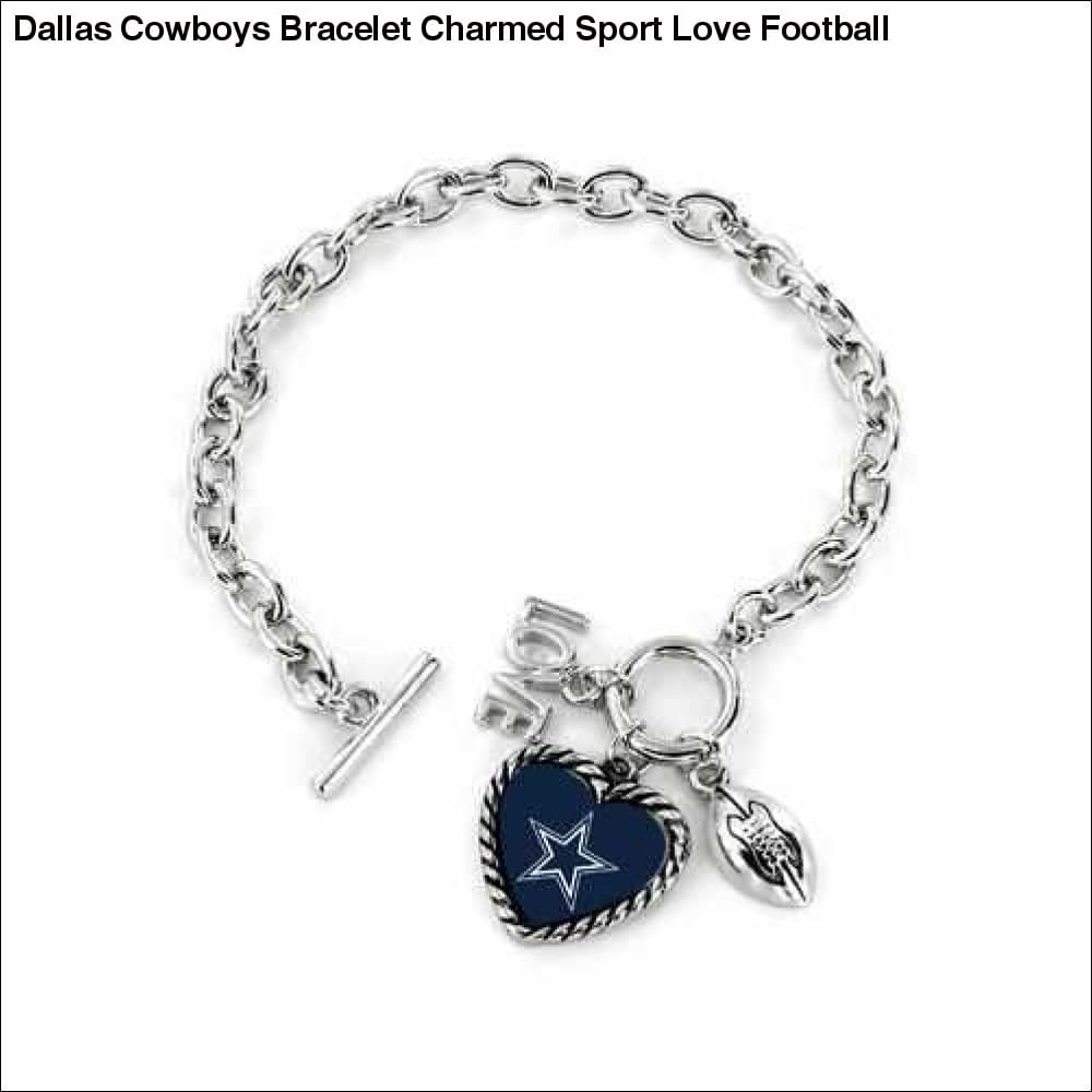 Dallas Cowboys Bracelet Charmed Sport Love Football - Teams