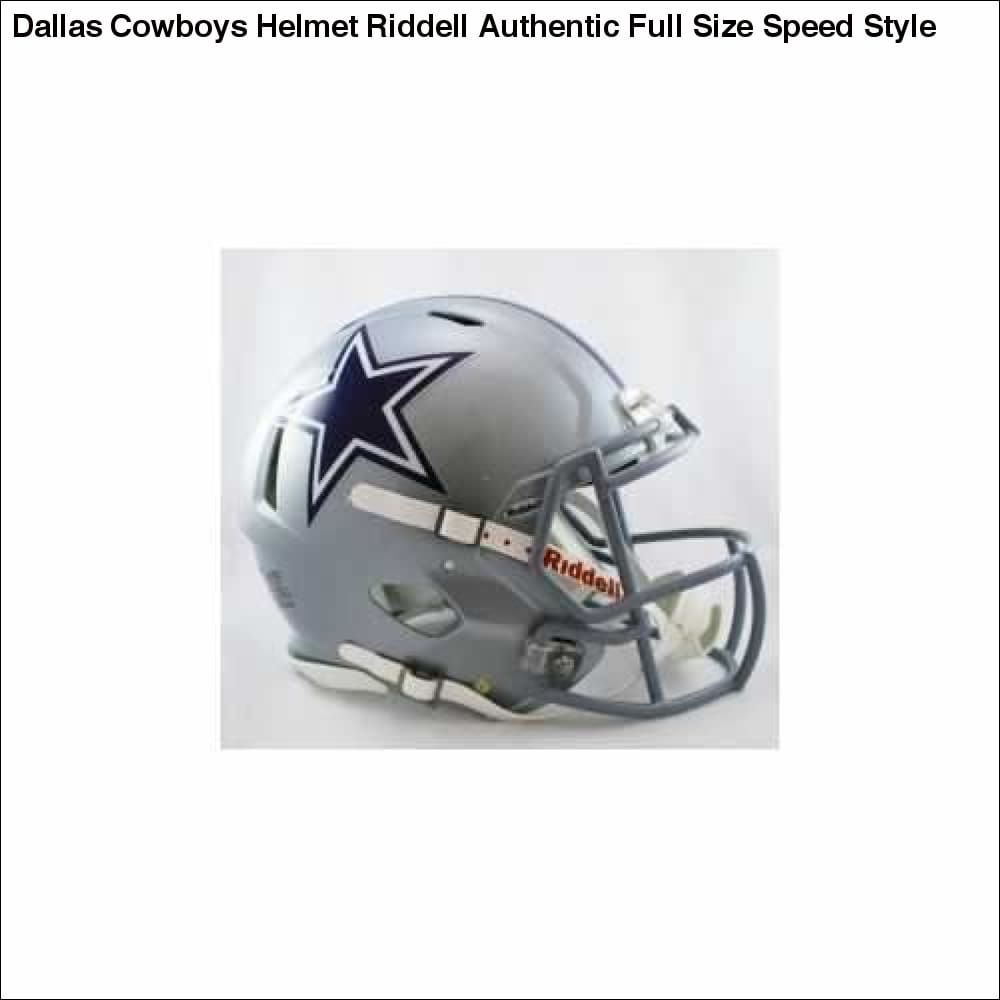 Dallas Cowboys Helmet Riddell Authentic Full Size Speed Style - Teams