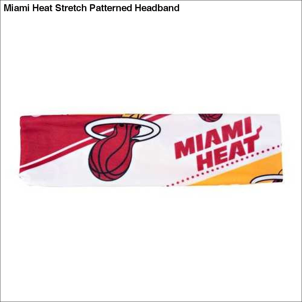 Miami Heat Stretch Patterned Headband - Teams Sky arrowz - miami heat stretch patterned headband