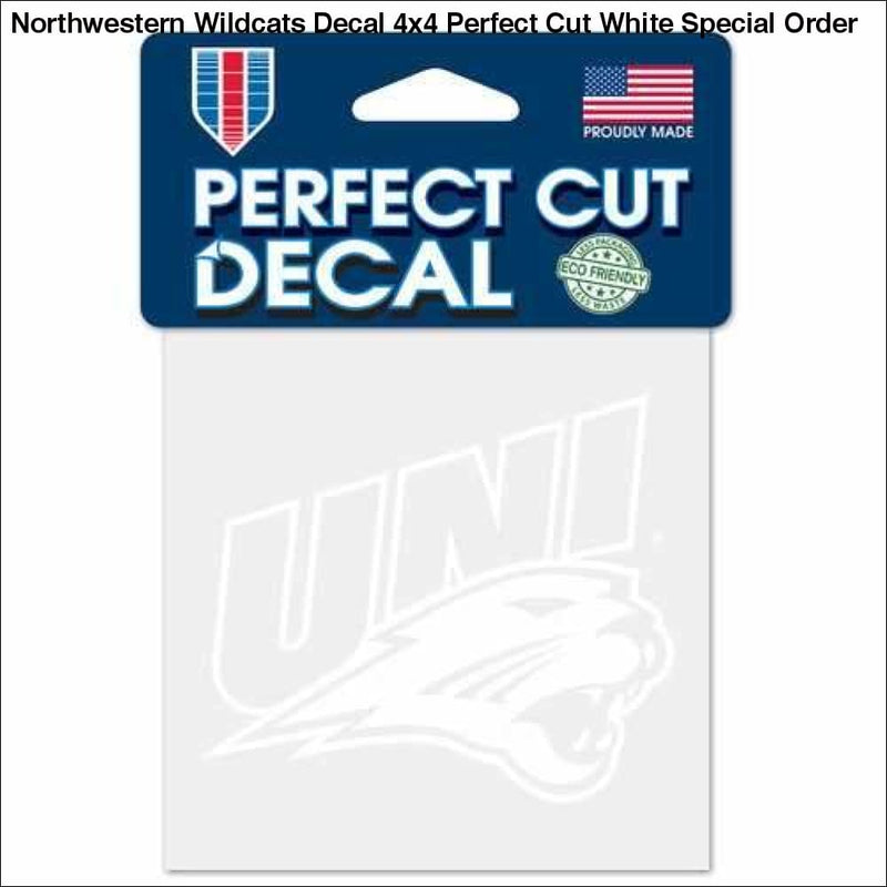 Northwestern Wildcats Decal 4x4 Perfect Cut White Special Order - Teams Sky arrowz - northwestern wildcats decal perfect cut white special
