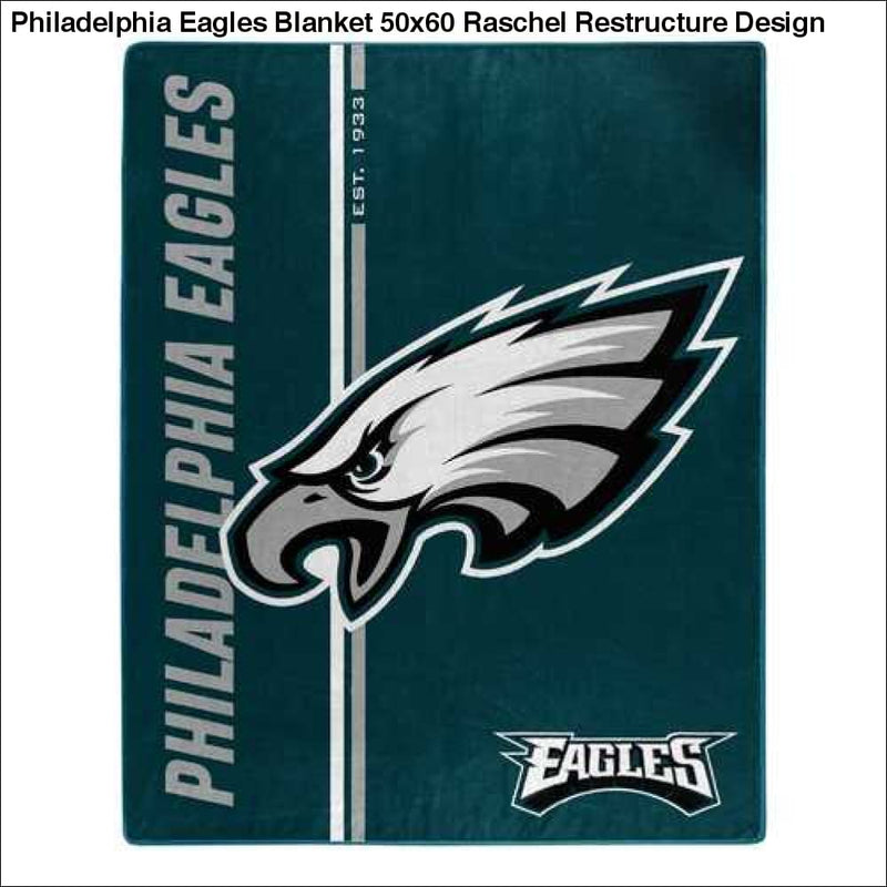 Philadelphia Eagles Blanket 50x60 Raschel Restructure Design - Teams Sky arrowz - philadelphia eagles blanket raschel restructure design