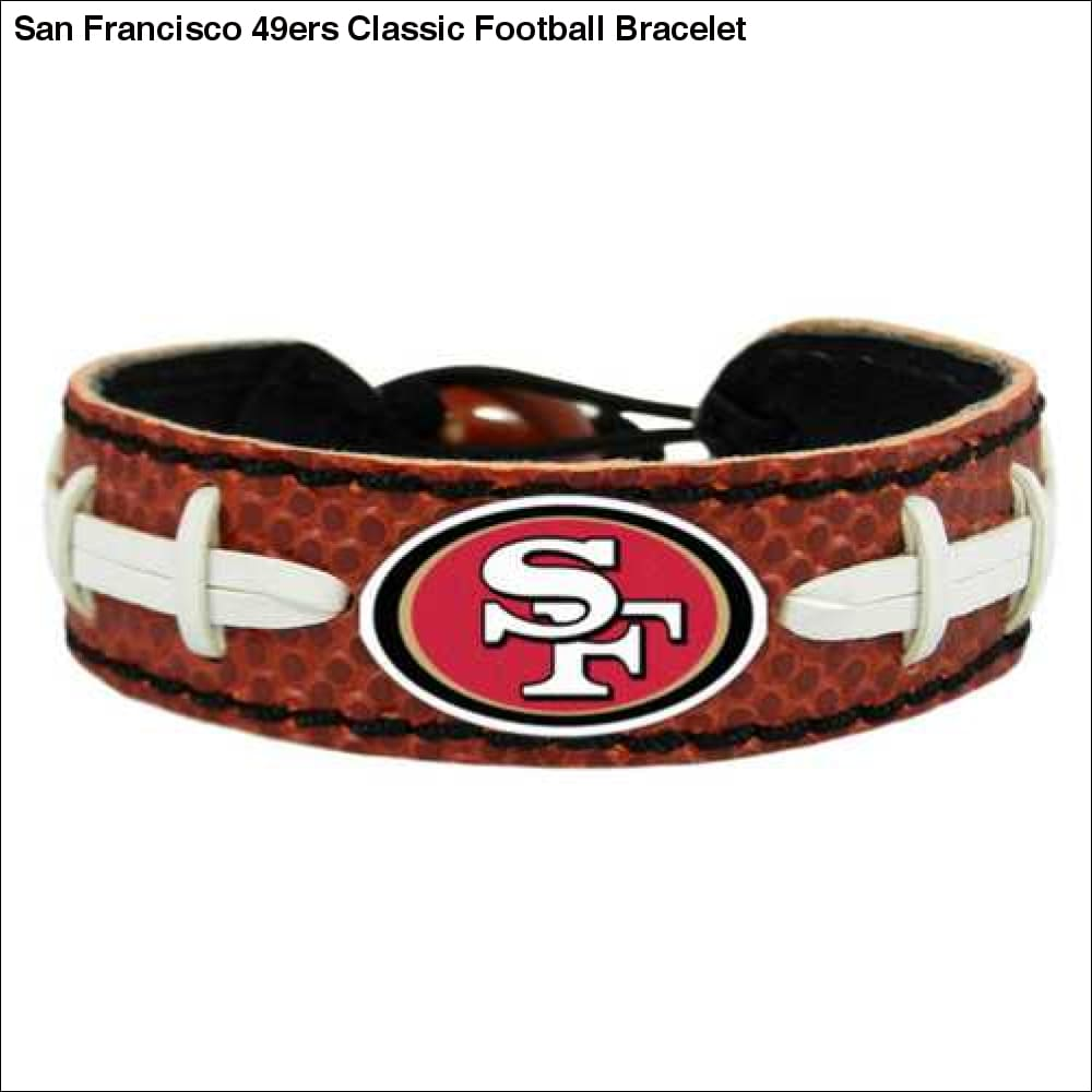San Francisco 49ers Classic Football Bracelet - Teams Sky arrowz - san francisco classic football bracelet