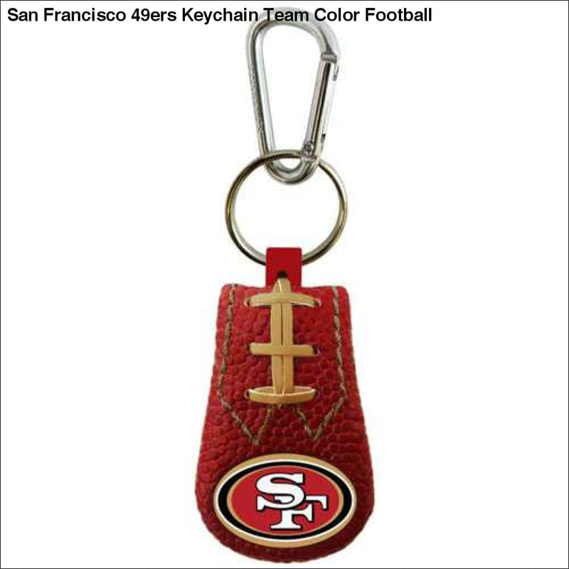 San Francisco 49ers Keychain Team Color Football - Teams Sky arrowz - san francisco keychain team color football