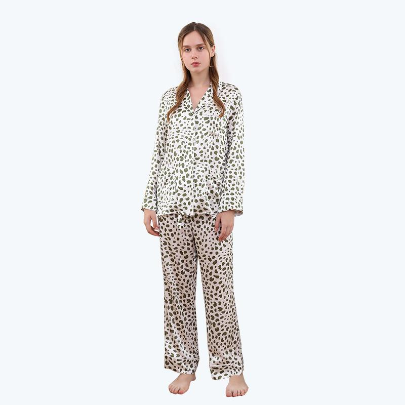 Silk Pajamas Set for Women 2 Piece 100 Real Luxury Floral Long Ladies Silk Pajamas
