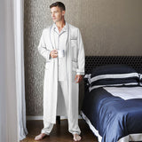 Men's Silk Robe Luxury Pure Mulberry Silk Sleepwear with Pockets