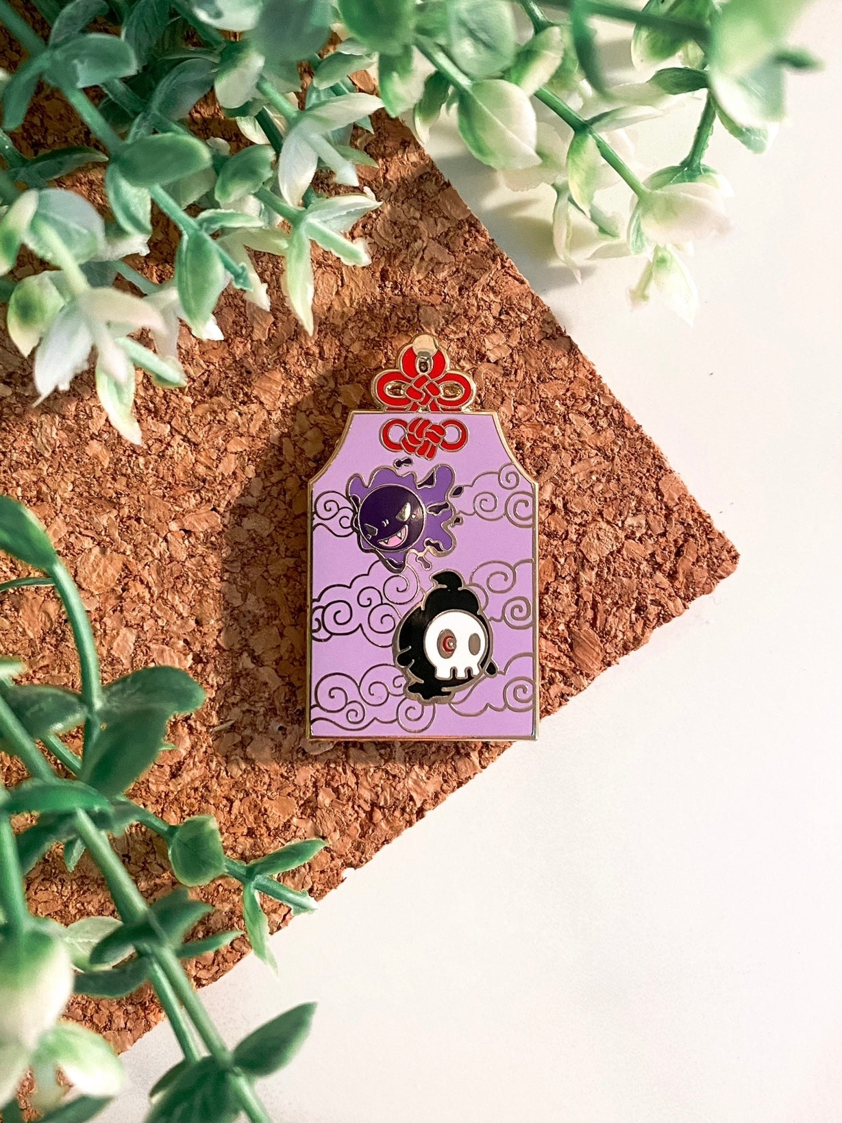 Ghost Type Omamori Pin