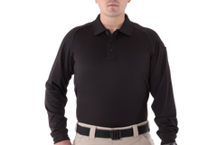 First Tactical - MEN'S PERFORMANCE LONG SLEEVE POLO - Black | Midnight Navy