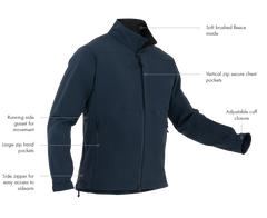 First Tactical - MEN'S TACTIX SOFTSHELL JACKET - Black | Midnight Navy
