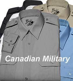 Gold Star Canadian Military Shirt - Long Sleeve