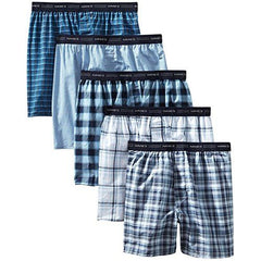 Hanes Men's FreshIQ Tagless Tartan Boxers with Exposed Waistband