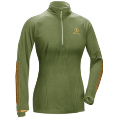 W's Secluded Baselayer 1/2 Zip  Shadow Green/Tan LRG