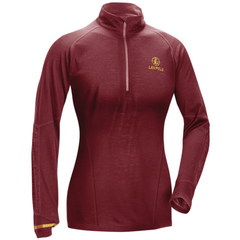 W's Secluded Baselayer 1/2 Zip  Wine LRG
