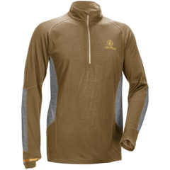 Secluded Baselayer 1/2 Zip  Shadow Tan/Grey Lrg
