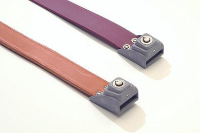 Locking Roller-Buckle Leather and Polyurethane Belts
