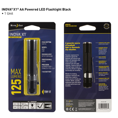 INOVA® X1® LED Flashlight - Black