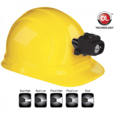 Dual-Light Headlamp w/Hard Hat Clip & Mount