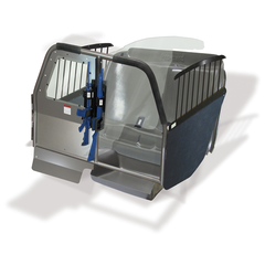 Dual Prisoner Compartments, Pro-cell Prisoner Transport System, Full Partition (Includes Recessed Panel)
