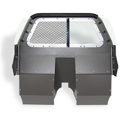 Stationary Polycarbonate Window and Center Expanded Metal (Includes Recessed Panel and Pair Bucket Seat Extension Panels)