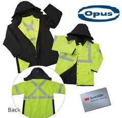 Reversible Safety Rain Jacket