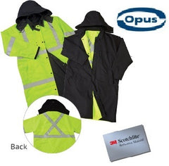 Reversible Safety Long Rain Jacket