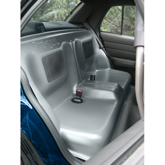 CONTOURED REAR SEAT GREY ABS