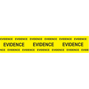 Sirchie - Box Sealing Evidence Tape, yellow printed Black Evidence , 2 x 165'