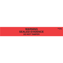 Sirchie - Warning! Sealed Evidence Seals, Red w/ Black printing