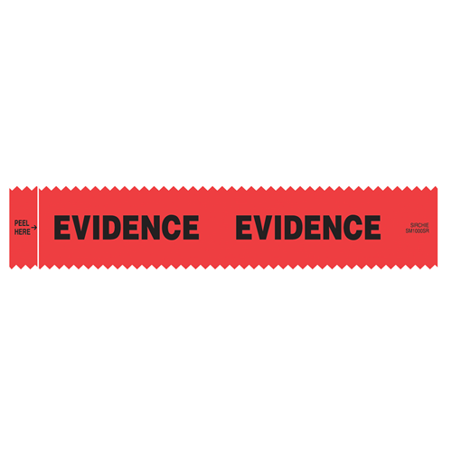 Sirchie - SIRCHMARK Evidence Integrity Strips Red w/ Black Evidence 1-3/8 x 7 100/box
