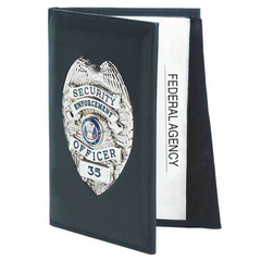 Strong Leather Company - Outside Badge Mount Double ID Case - Dress