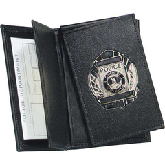 Strong Leather Company - Side Open Double ID Flip-out Recessed Badge Case - Dress