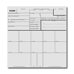 Sirchie - Applicant Record Cards