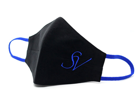 Black With Royal Blue Initials (FM-23)