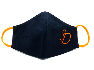 Navy Blue With Neon Orange Initials (FM-23)