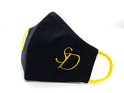 Navy Blue With Neon Yellow Initials (FM-23)