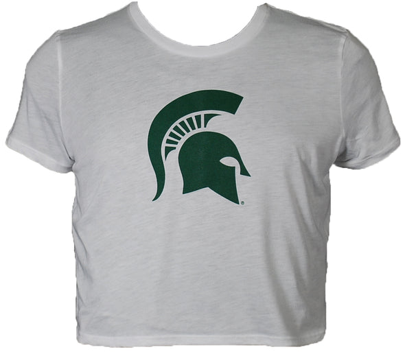 MSU Ladies Flowy Cropped T-Shirt