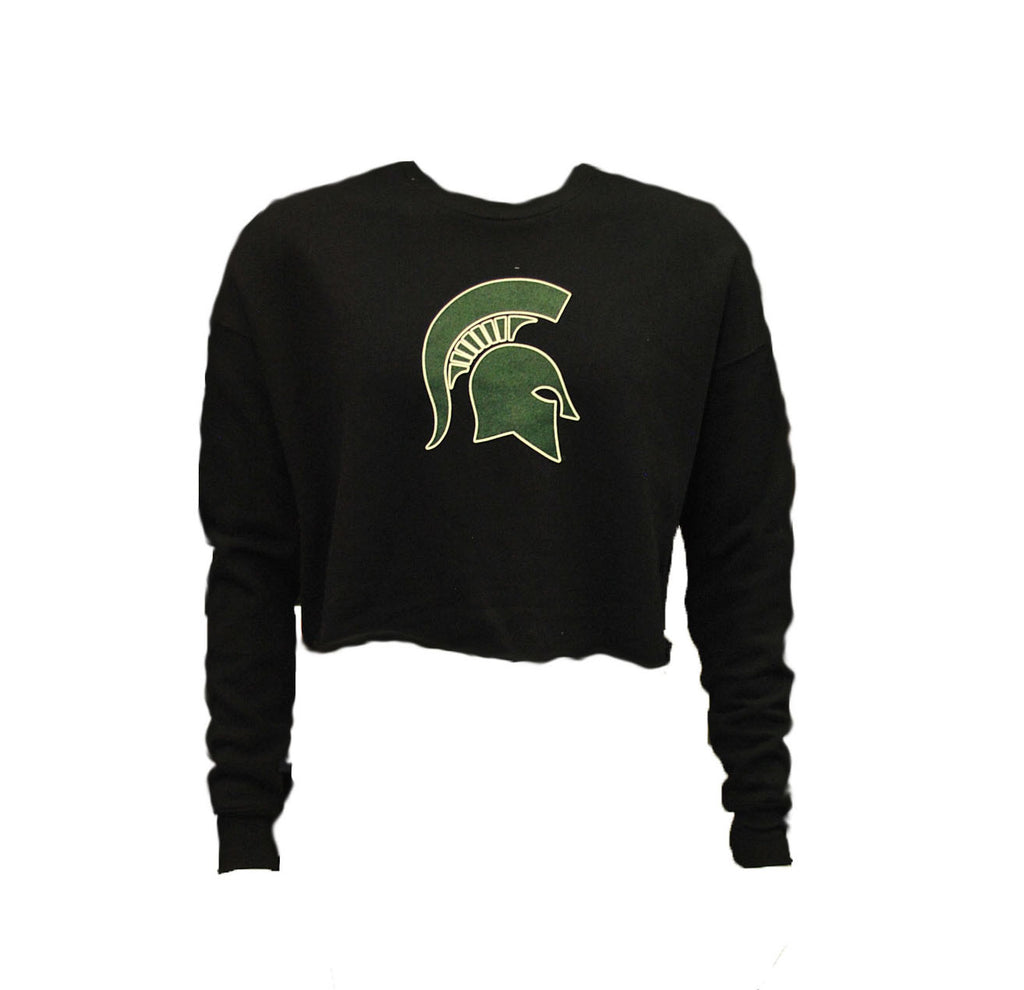 MICHIGAN STATE BLACK CROPPED FLEECE