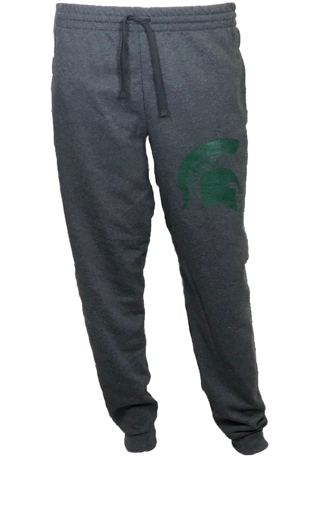 Michigan State Jerzees Fleece Jogger - Spartan Head