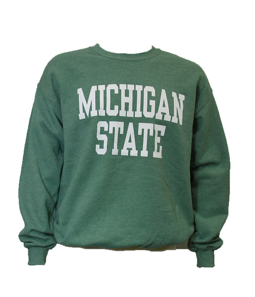 MICHIGAN STATE HEATHER GREEN CREWNECK SWEATSHIRT