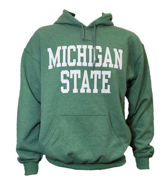 Michigan State Hooded Sweatshirt - Block Design - Many Colors to Choose From