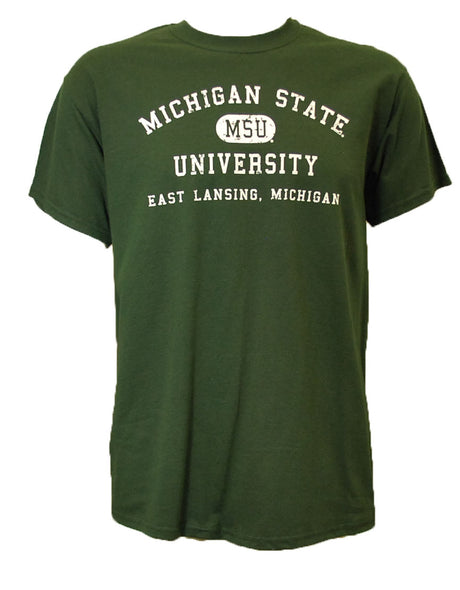 MSU T-Shirt - Distressed with East Lansing Design