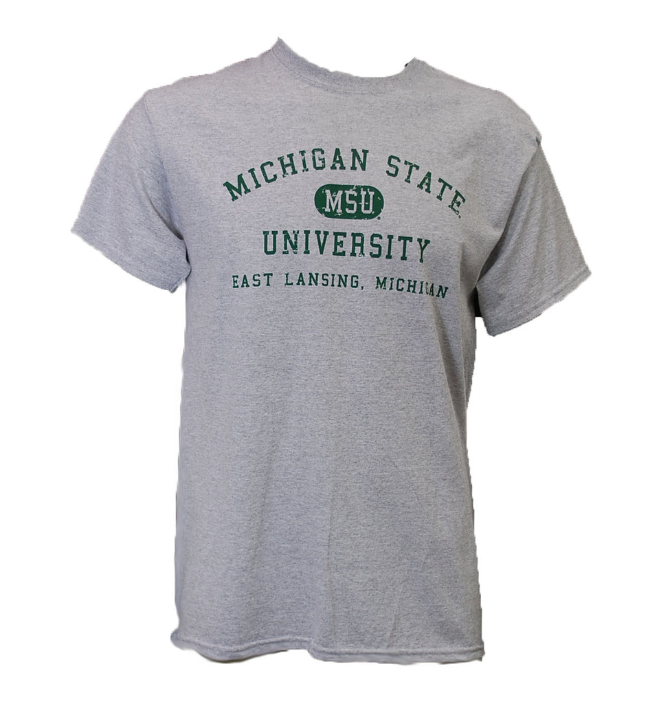 MSU Distressed with East Lansing T-Shirt