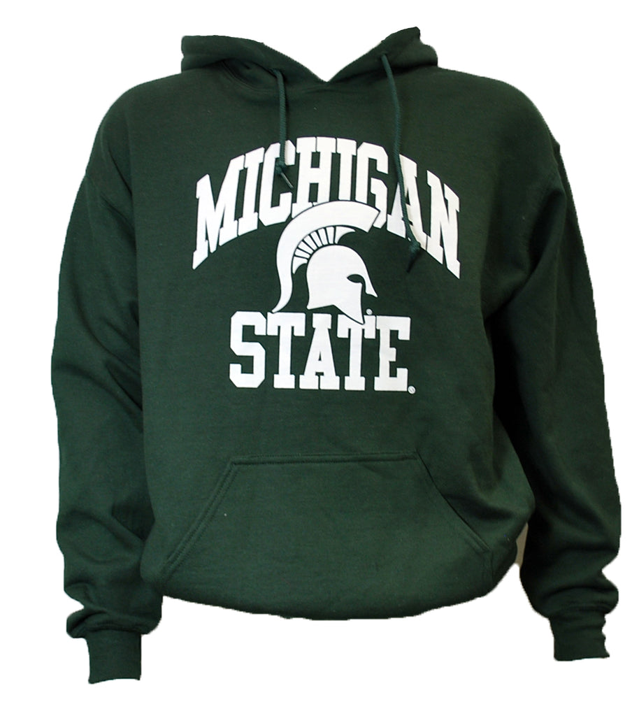 Michigan State Spartan Helmet Hooded Sweatshirt