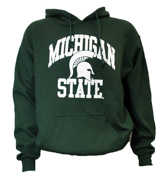 Michigan State Hooded Sweatshirt - Embedded Spartan Helmet Design