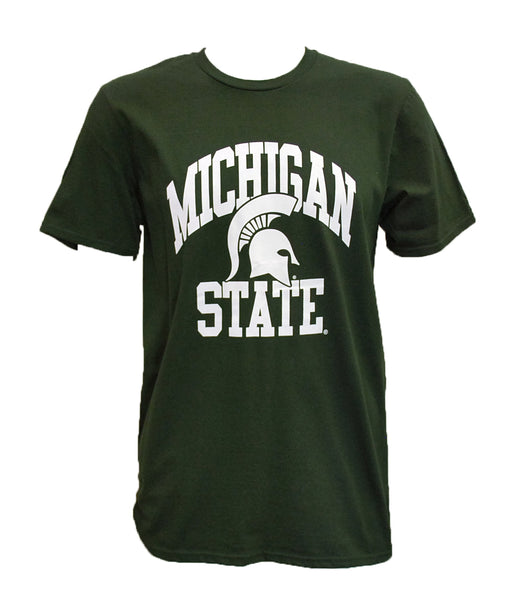 Michigan State T-Shirt - Embedded Spartan Helmet Design