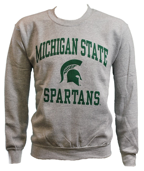 MICHIGAN STATE SPARTANS GREY CREWNECK SWEATSHIRT