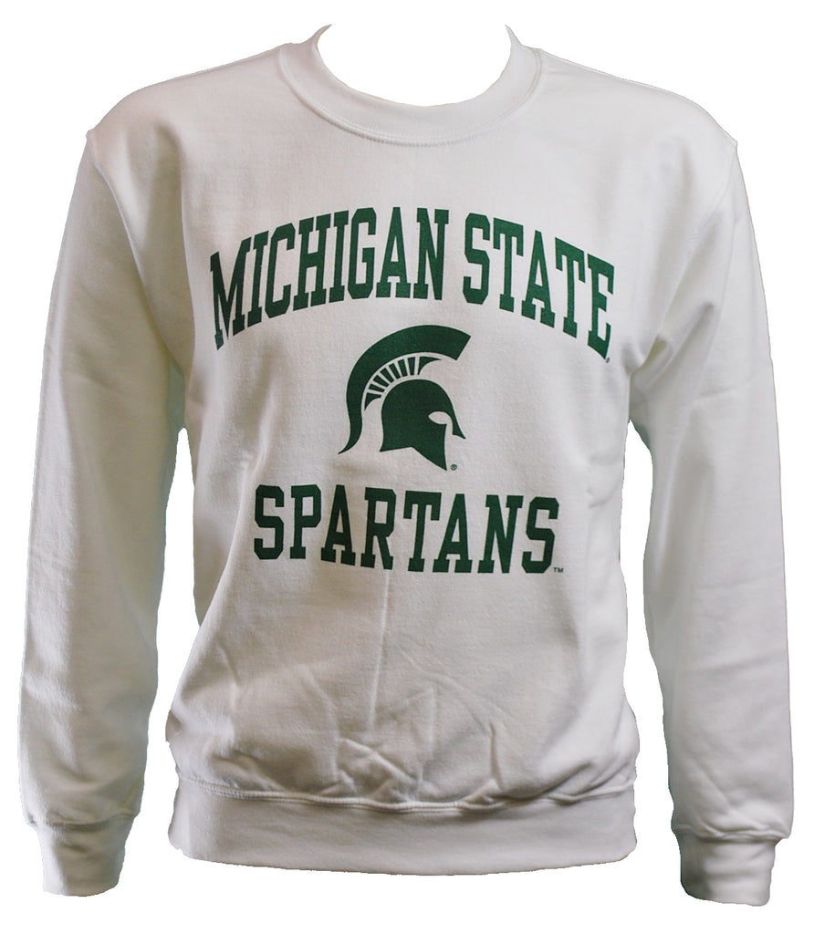 MICHIGAN STATE SPARTANS WHITE CREWNECK SWEATSHIRT